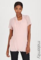 Cherry Melon - Wrap Shirt Pale Pink