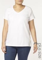 EVANS - Short Sleeve T-Shirt White