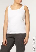 EVANS - 2 Pack Rib Vests Black and White
