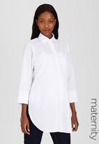 edit Maternity - Longer Length Shirt White