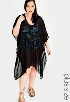 Sun Love - Longer Length Kimono Black