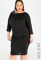 RUFF TUNG - Jenna Dress with Sequins Black