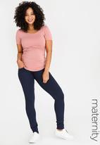 Cherry Melon - Maternity Soft jogger pants - Navy