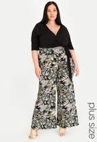 STYLE REPUBLIC PLUS - Wide Leg High Waisted Pant Multi-colour