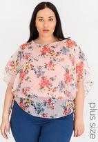 edit Plus - Tie detail blouse - pink