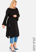 STYLE REPUBLIC PLUS - Bell Sleeve Tunic Black