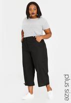 edit Plus - Linen Blend Pants Black
