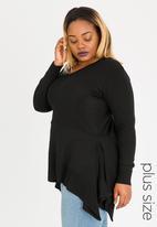 edit Plus - Dropped Hem Jersey Black