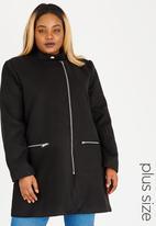 STYLE REPUBLIC PLUS - Biker-style Coat Black