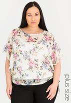 edit Plus - Tie detail blouse - cream
