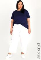 edit Plus - Linen Pants - White