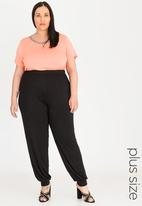 edit Plus - Drape lounge pants - black