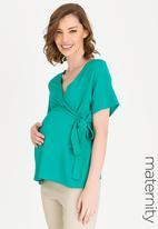 edit Maternity - Wrap blouse - teal