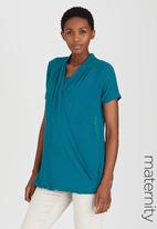 Cherry Melon - Wrap Shirt Mid Blue