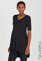 edit Maternity - Longer Length T Black