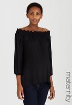 edit Maternity - Off Shoulder Top Black