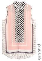 Next - Printed sleeveless shirt Pink