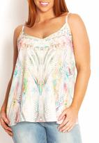 City Chic - Pastel-print cami  Multi-colour