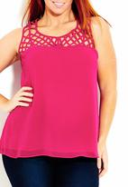 City Chic - Cami with cut-out detail dark Pink