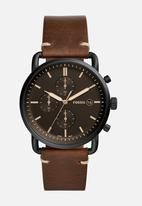 Fossil - Commuter Chrono Watch Brown