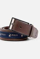 POLO - Lorenzo leather belt - brown