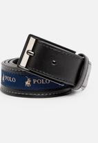 POLO - Lorenzo leather belt - black