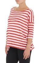 Me-a-mama - Striped top Red