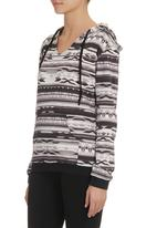 edge - Printed hooded tracktop Grey (mid grey)