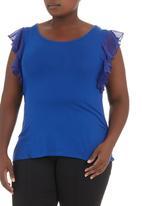 edit - Flutter-sleeved Tshirt Blue
