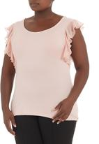 edit - Flutter-sleeved T-shirt Pale Pink