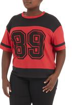 edge - Printed football T-shirt Red