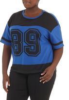 edge - Printed football T-shirt Black/Blue