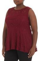 STYLE REPUBLIC - Lace peplum blouse Red