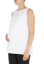 Cherry Melon - Baby Doll Top White