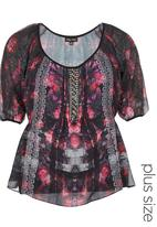 City Chic - Bejewelled Top Multi-colour