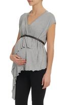 Astrid Ray - Kira vest with belt  Grey