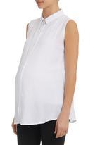 Cherry Melon - Sleeveless Shirt White