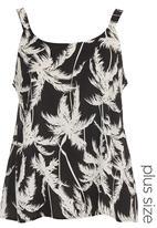 edit - Palm Tree-print Cami Black/White
