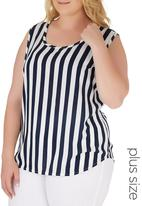 edit Plus - Basic Woven Cami Blue and White