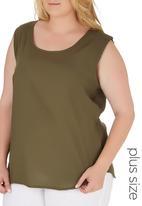 edit Plus - Basic Woven Cami Mid Green