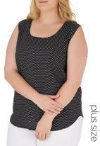 edit Plus - Basic Woven Cami Black and White