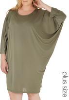 edit Plus - Easy Wearing Tunic Khaki Green