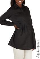 Cherry Melon - Long Sleeve Work Shirt Black