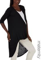 edit Maternity - 3/4 Sleeve Drape Top Black