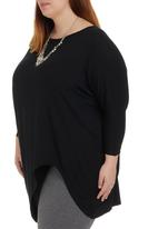 edit - Tunic with 3/4 Sleeves Black