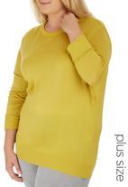 edit Plus - Basic Crew Neck Jersey Yellow
