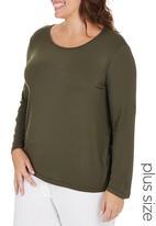 edit Plus - Basic Long Sleeve T-shirt Mid Green