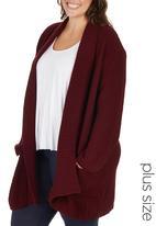edit Plus - Maxi Coat Dark Red