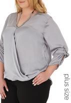 edit - Drapped wrap shirt Grey