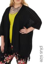 STYLE REPUBLIC - Crochet Kimono Black